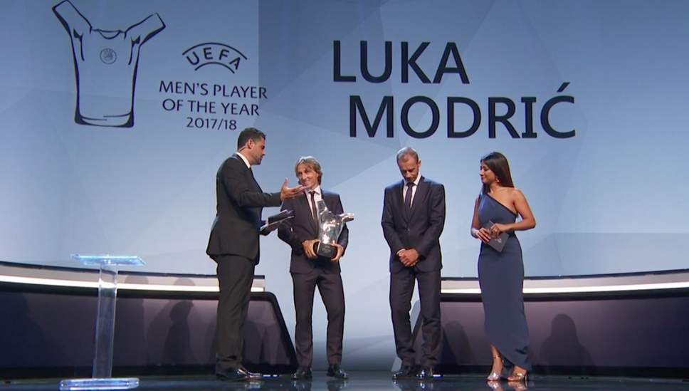RONALDO & SALAH LOSE TO MODRIC – UEFA MALE PLAYER OF THE YEAR